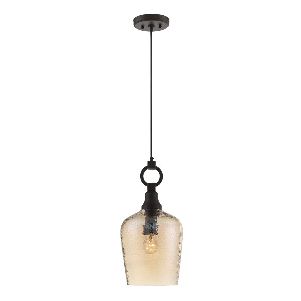 19 Must See Practical Kitchen Island Designs With Seating: Quoizel Lighting Kendrick Western Bronze Mini-Pendant