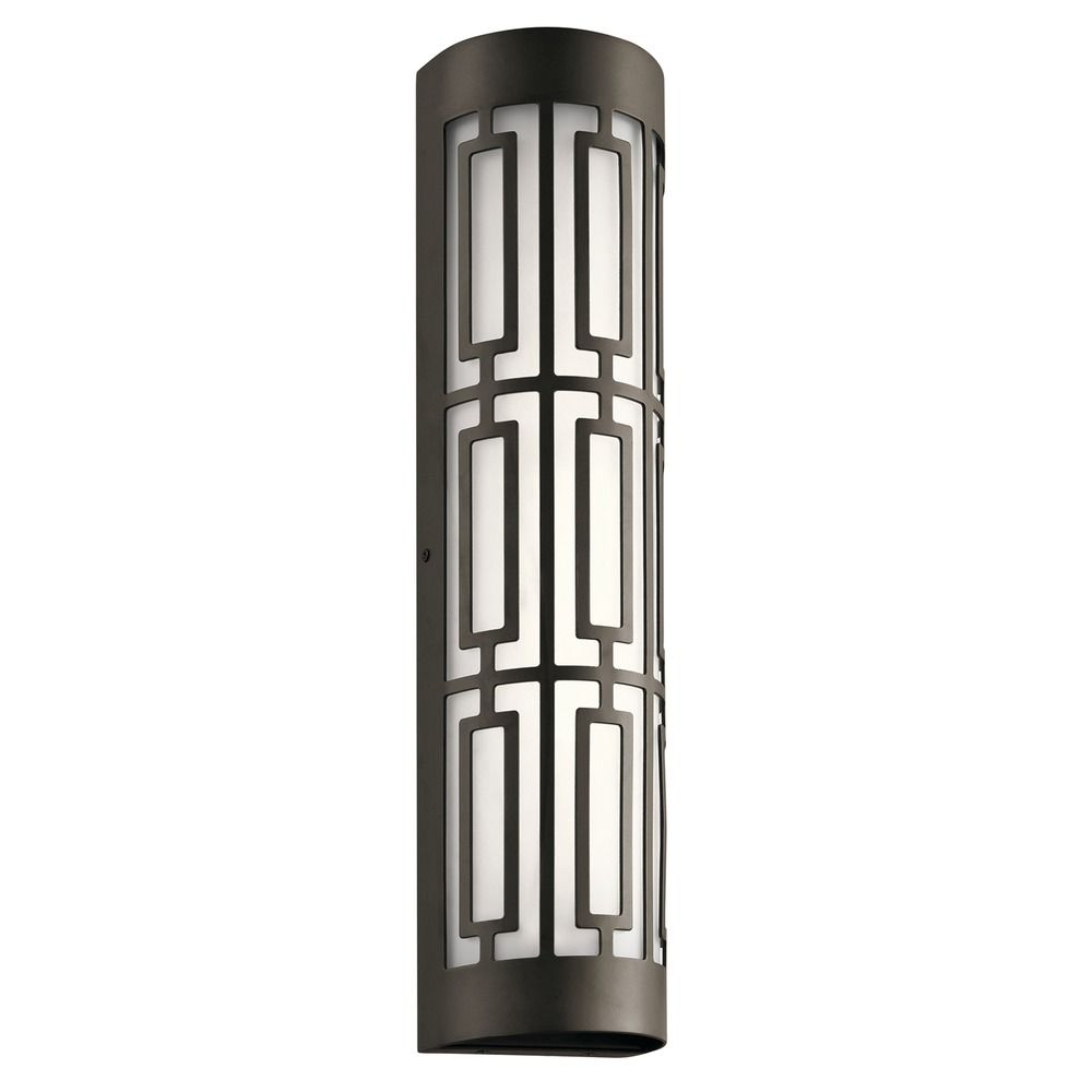 Art deco led outdoor wall light bronze empire by kichler for Art deco exterior light fixtures