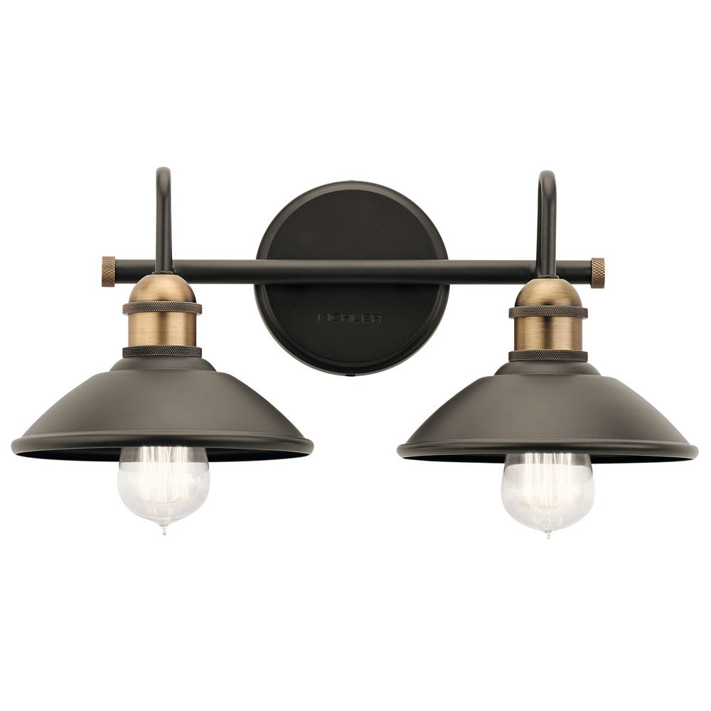 Farmhouse Bathroom Light Olde Bronze Clyde by Kichler Lighting ...