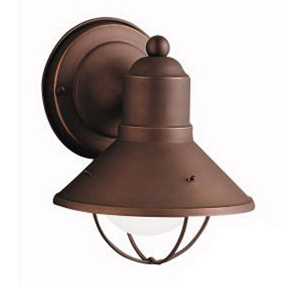 Kichler 7 1 2 Inch Nautical Outdoor Wall Light With LED Bulb 9021OZ 10W LE