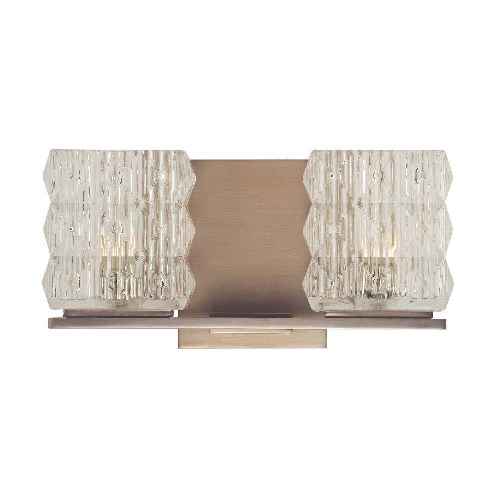 Modern Bathroom Light With Clear Glass In Brushed Bronze Finish 6242 Bb Destination Lighting