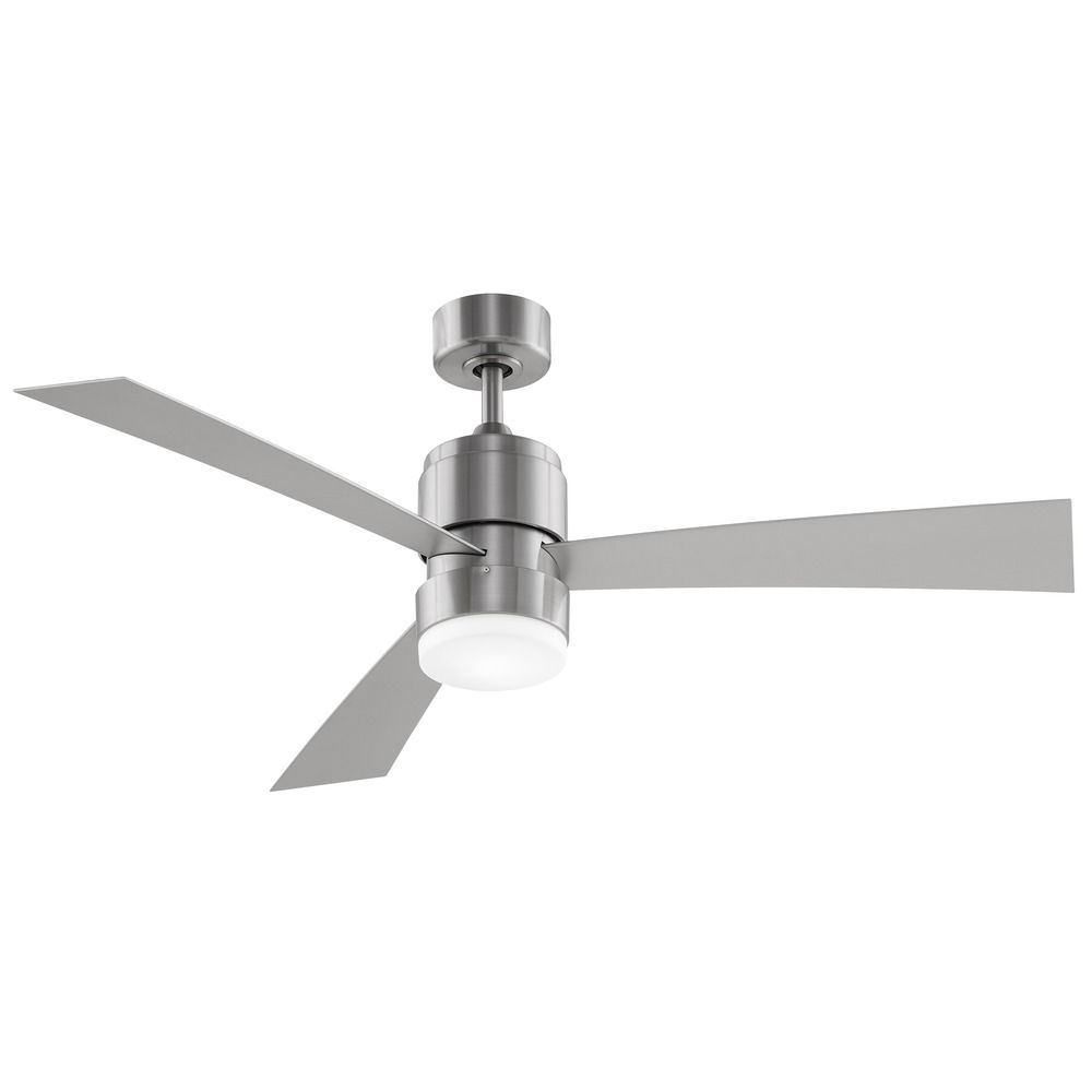 Fanimation Fans Zonix Brushed Nickel Led Ceiling Fan With