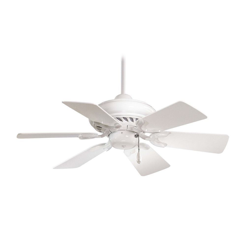 Minka Aire Ceiling Fan Without Light in White Finish F562-WH. Hover or  Click to Zoom - Ceiling Fan Without Light In White Finish F562-WH Destination
