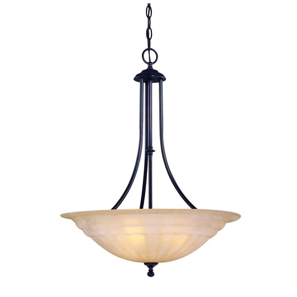 Modern pendant light in bolivian bronze finish 669 78 for Pendant lighting modern design