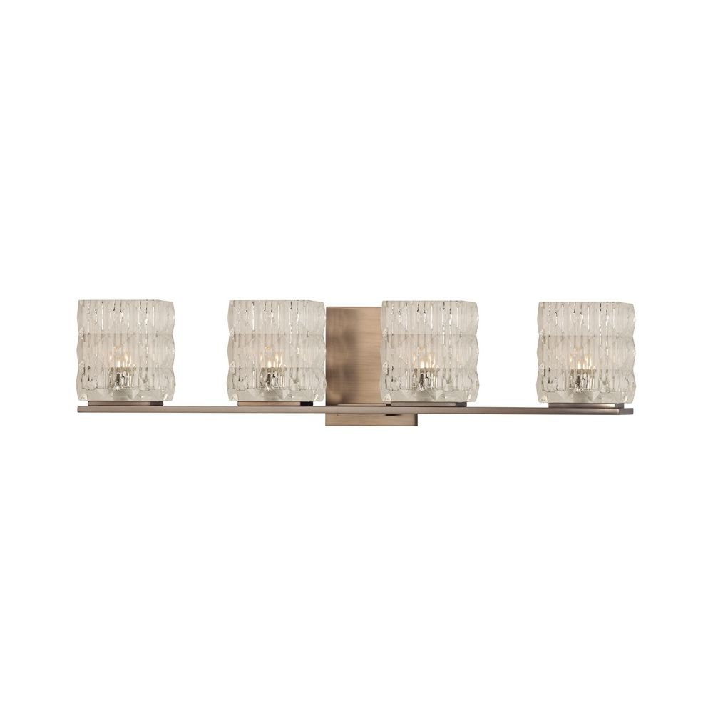 Modern Bathroom Light With Clear Glass In Brushed Bronze Finish 6244 Bb Destination Lighting