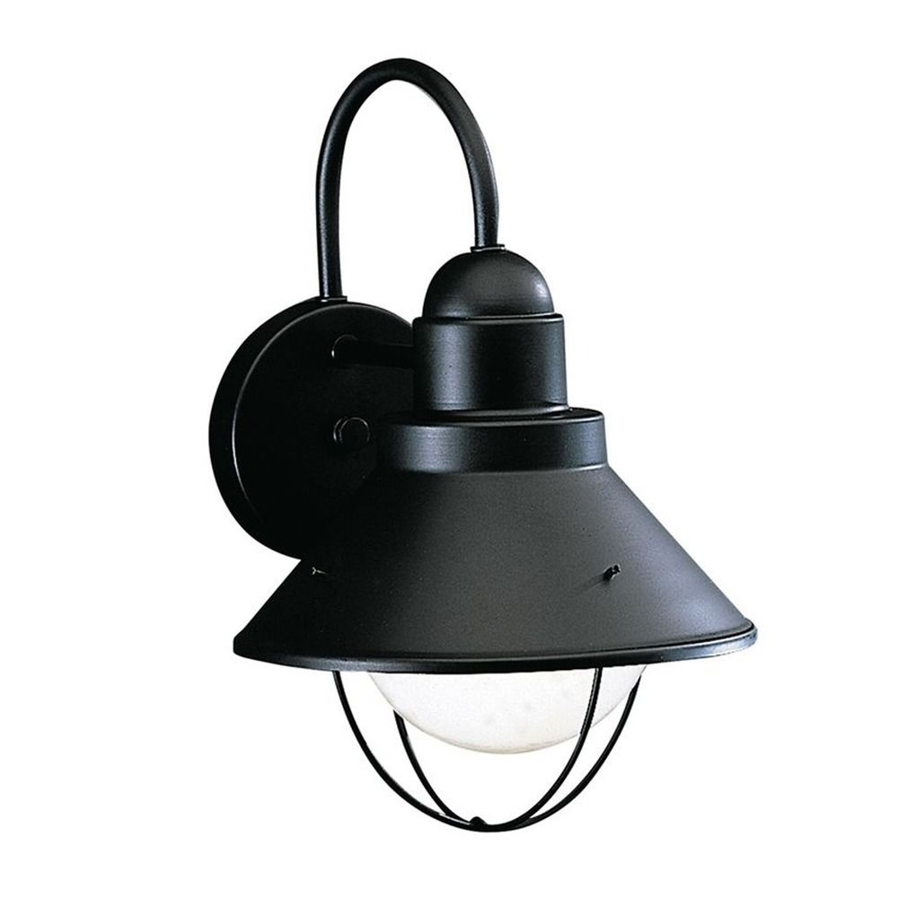 lighting kichler 12 inch nautical outdoor wall light with led bulb. Black Bedroom Furniture Sets. Home Design Ideas