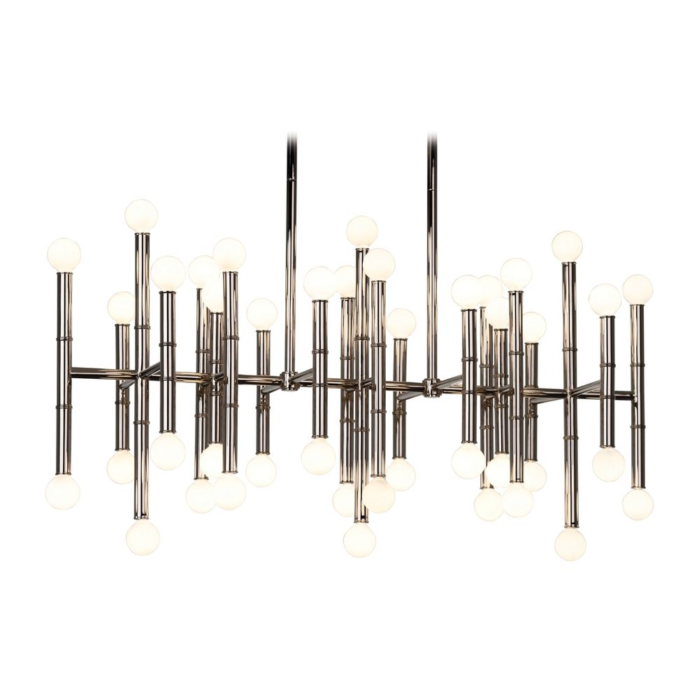 Mid century modern chandelier polished nickel jonathan adler hover or click to zoom aloadofball Image collections
