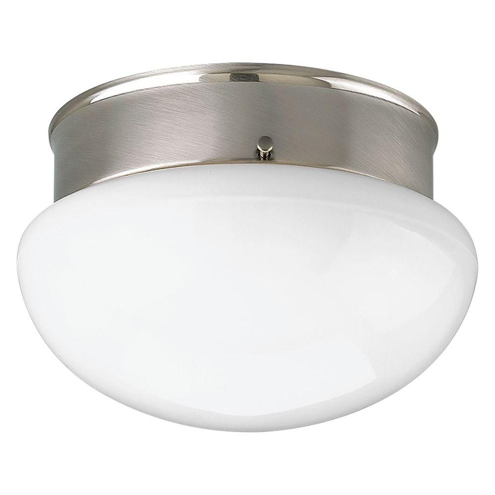 progress lighting fitter brushed nickel flushmount light. Black Bedroom Furniture Sets. Home Design Ideas