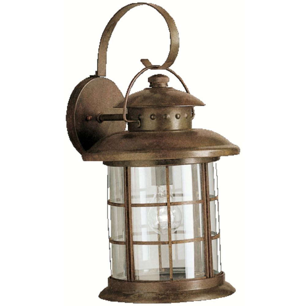 Kichler Outdoor Wall Light With Clear Glass In Rustic