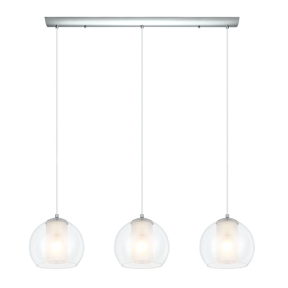 Eglo Bolsano Chrome Multi Light Pendant With Cylindrical Shade At Destination Lighting
