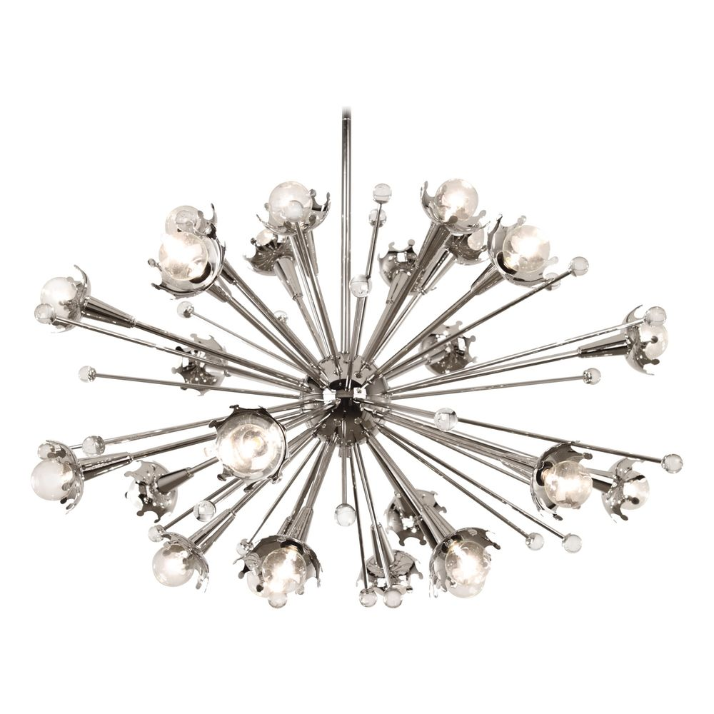 mid century modern chandelier polished nickel jonathan. Black Bedroom Furniture Sets. Home Design Ideas