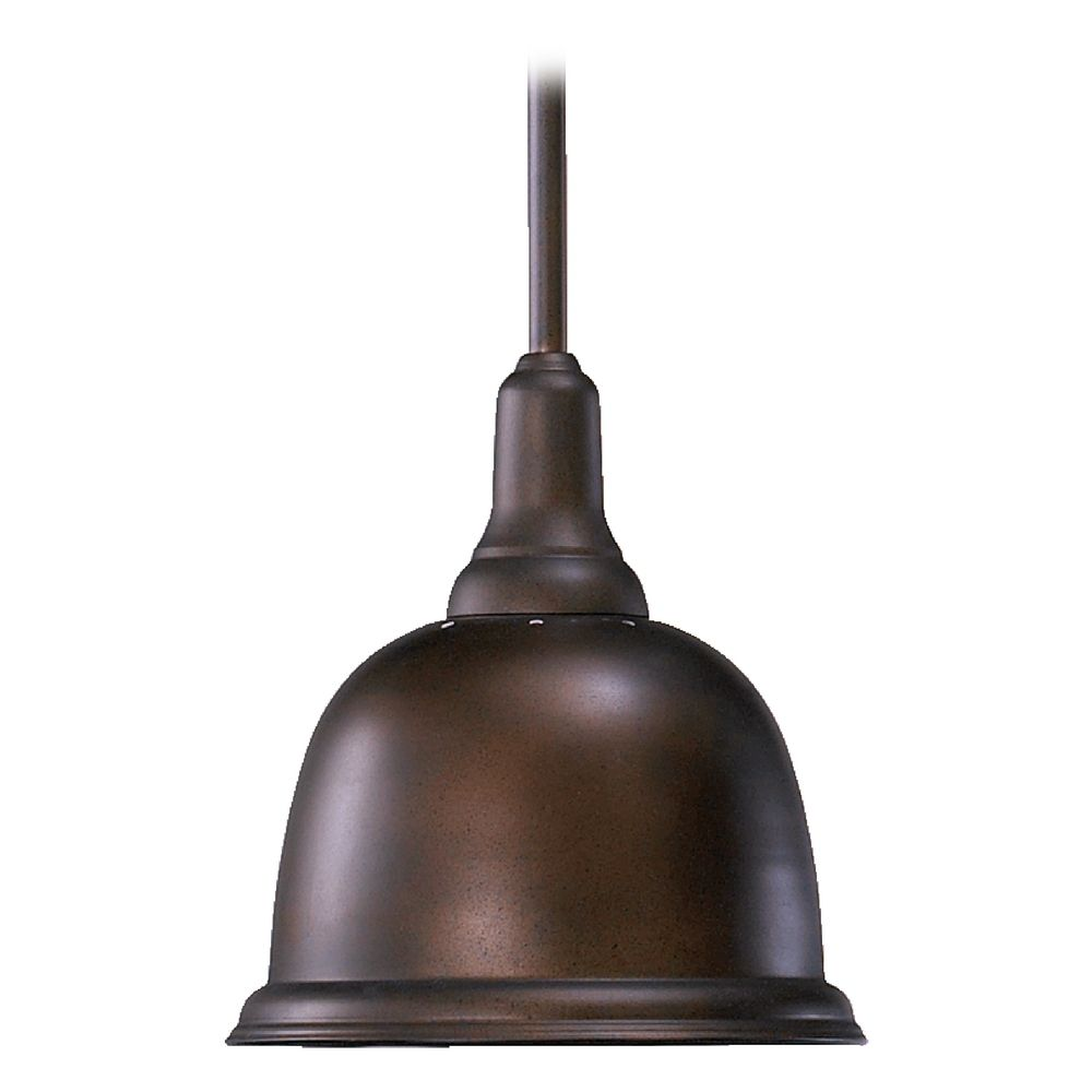 Farmhouse Mini-Pendant Light Oiled Bronze By Quorum
