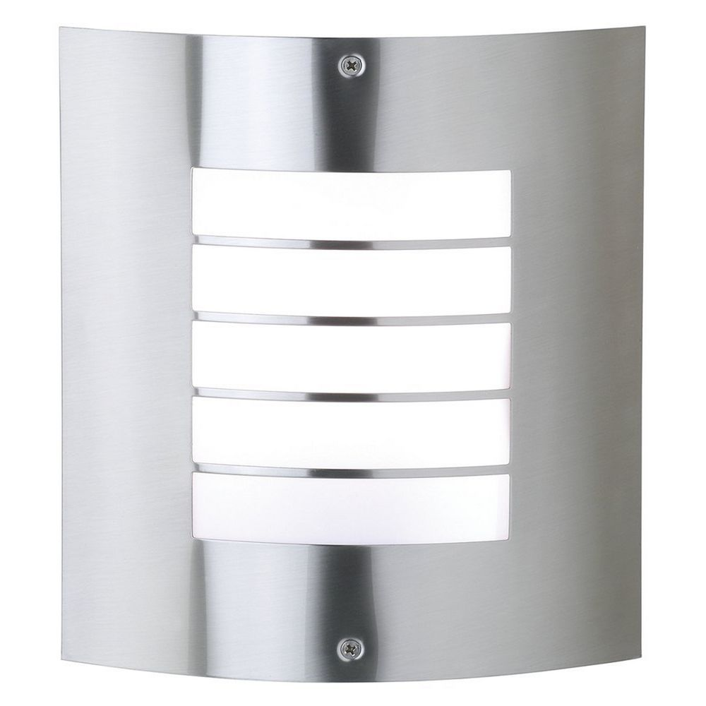 Exterior Lighting: Kichler Modern Outdoor Wall Light In Brushed Nickel Finish
