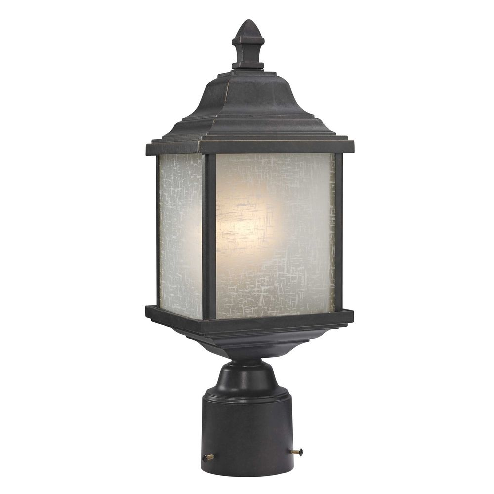 Outdoor Post Light Replacement Glass: Outdoor Post Light With White Linen Glass
