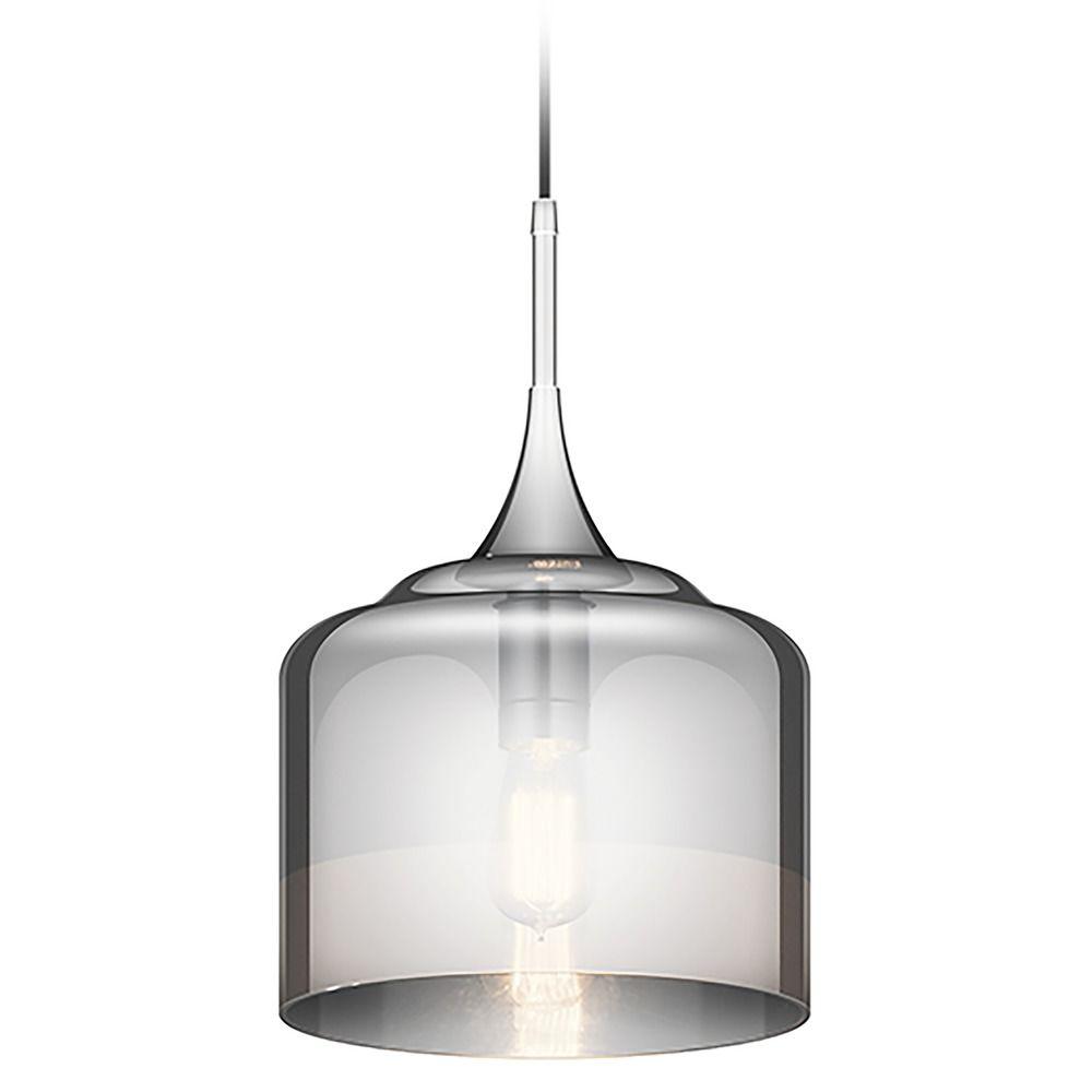Kichler lighting 42548clp triad 3 light linear pendant classic pewter - Kichler Lighting Tabot Chrome Pendant Light With Drum Shade Kichler Lighting