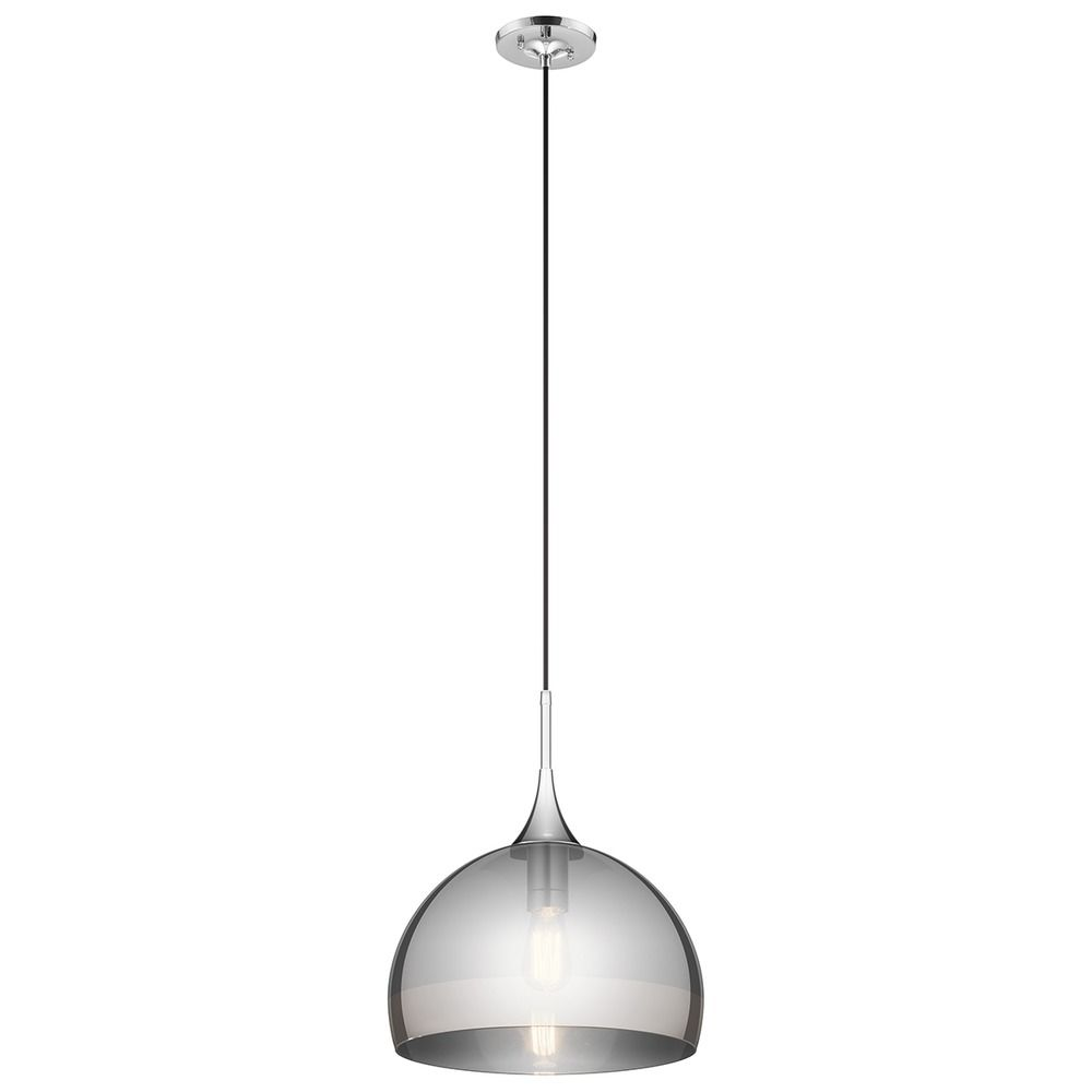 Kichler Lighting Tabot Chrome Pendant Light With Bowl / Dome Shade Alt1
