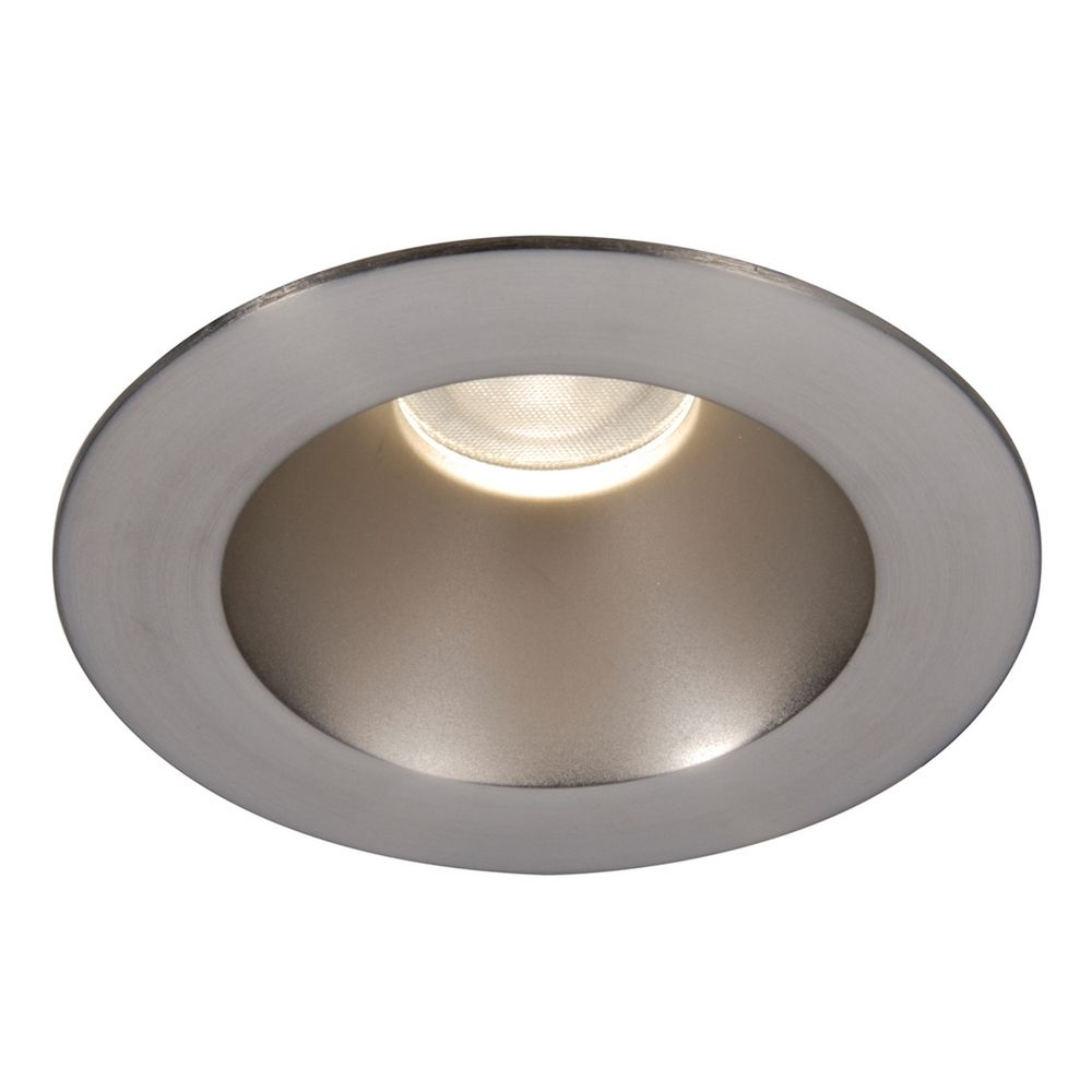 Led recessed lighting brushed nickel : Wac lighting brushed nickel led recessed trim hr
