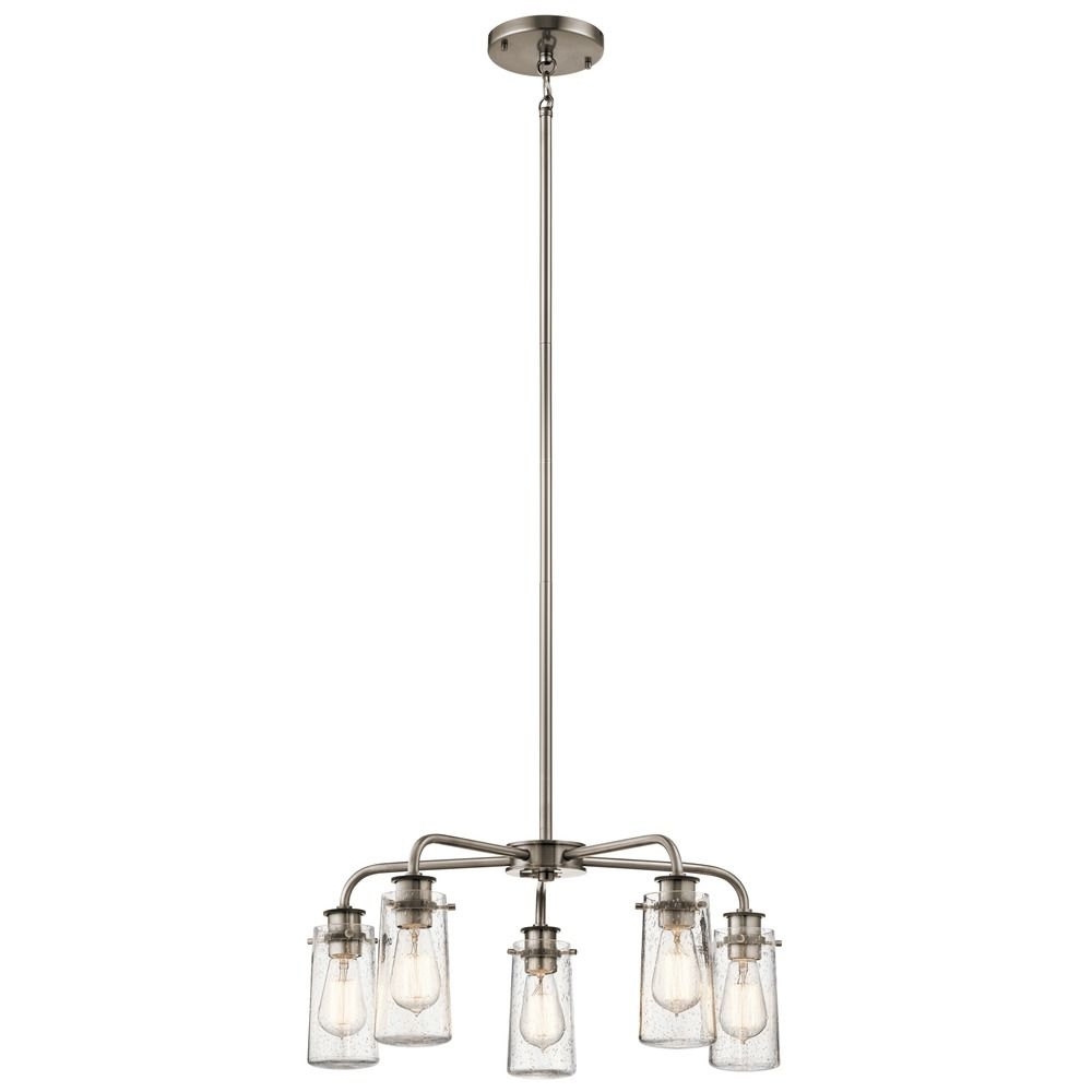 zoom glass chandelier lighting item seeded bronze destination