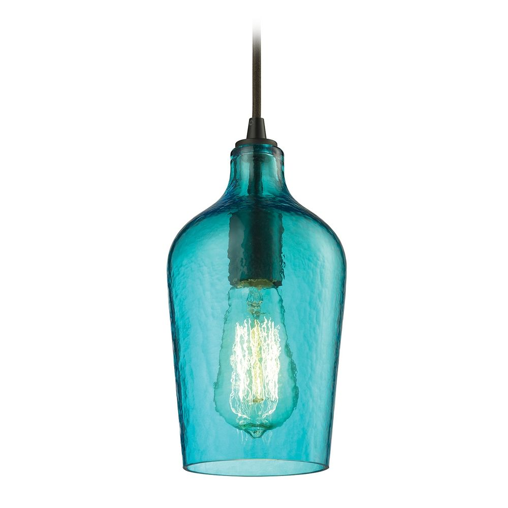 Mini Pendant Light With Green Glass
