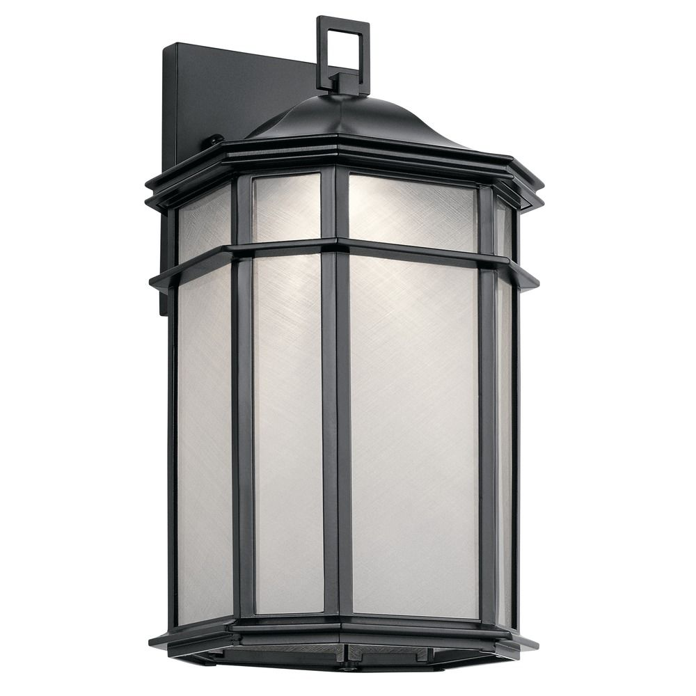 Industrial LED Outdoor Wall Light Black Kent By Kichler