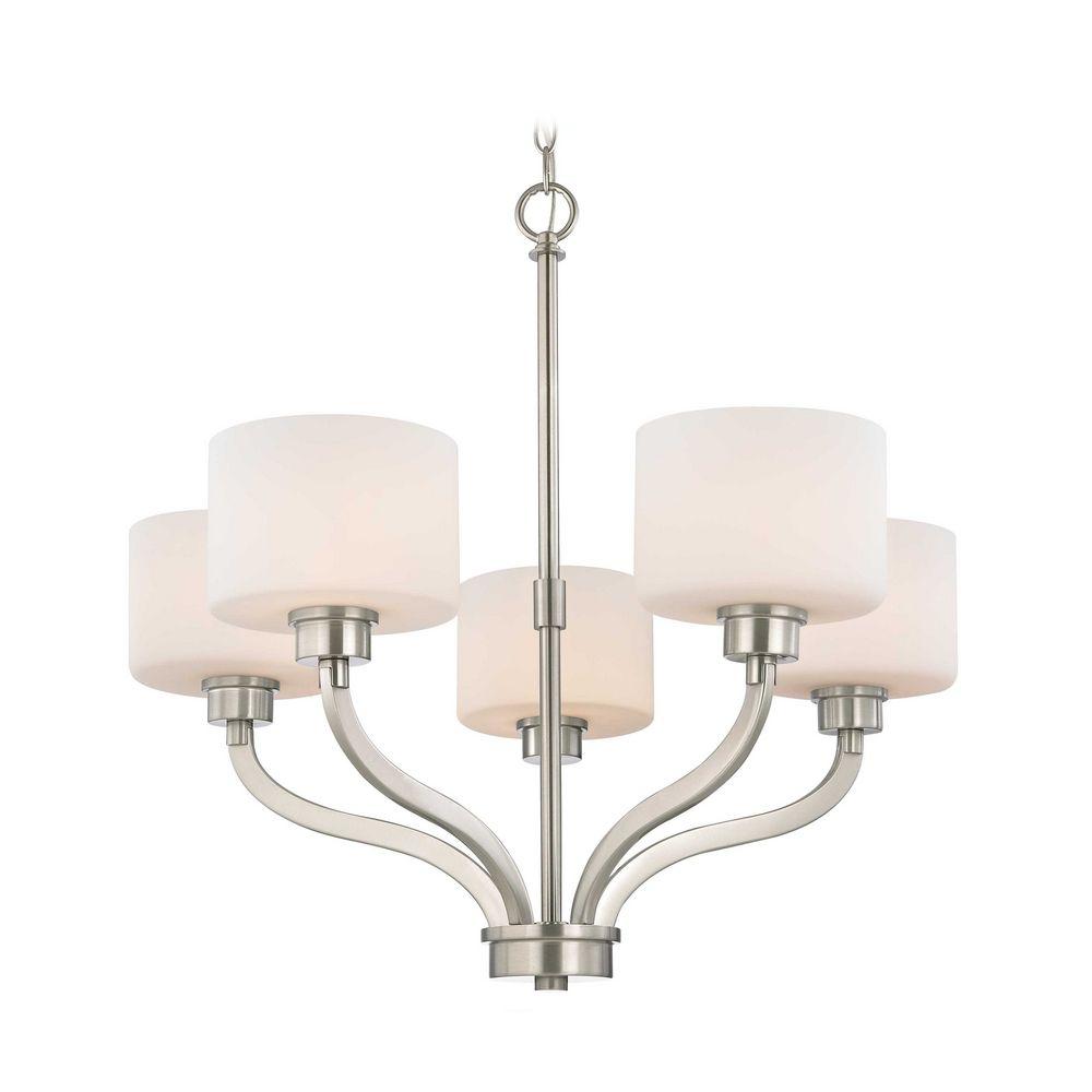 Dolan Designs Lighting Dolan Designs 5-Light Chandelier with White Glass in Satin Nickel 1260  sc 1 st  Destination Lighting & Dolan Designs 5-Light Chandelier with White Glass in Satin Nickel ...