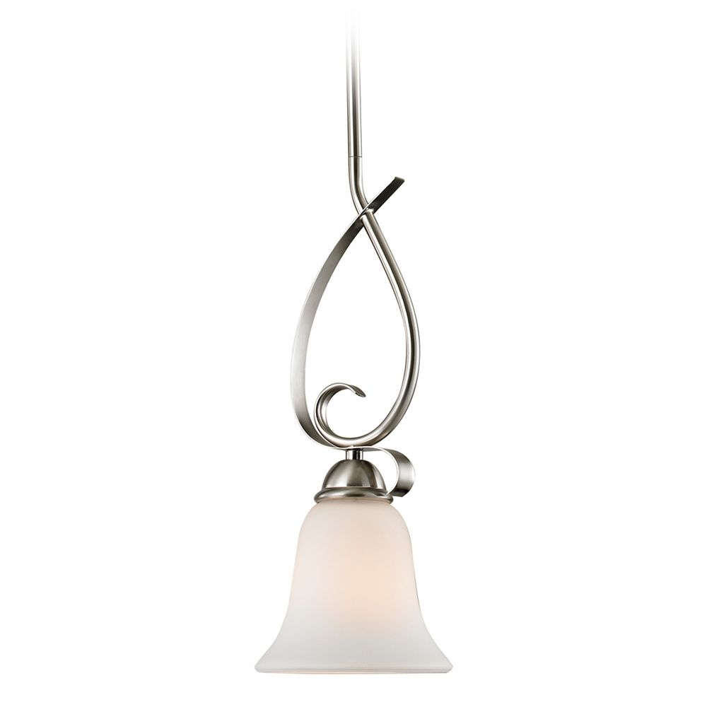 Cornerstone Lighting Brushed Nickel Mini Pendant With Bell Shade 1001PS 20
