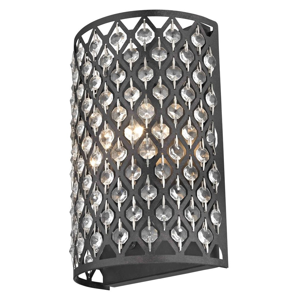 Modern Crystal Bronze Wall Sconce Alt2.