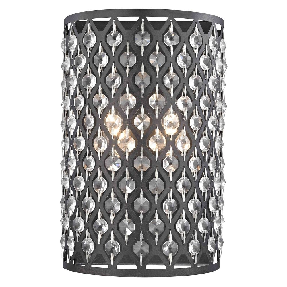 Crystal Wall Sconce With Switch : Modern Crystal Bronze Wall Sconce 2248-148 Destination Lighting