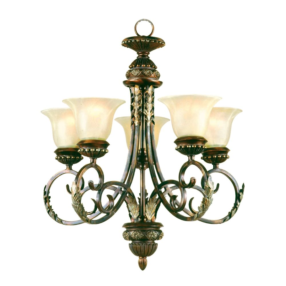 Chandelier with Alabaster Glass in Gilded Iron Finish  : P992420zoom from destinationlighting.com size 1000 x 1000 jpeg 81kB