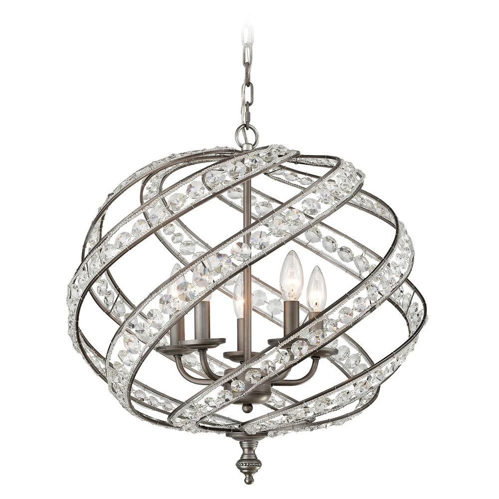 Elk Lighting Andalusia: Elk Lighting Renaissance Weathered Zinc Pendant Light