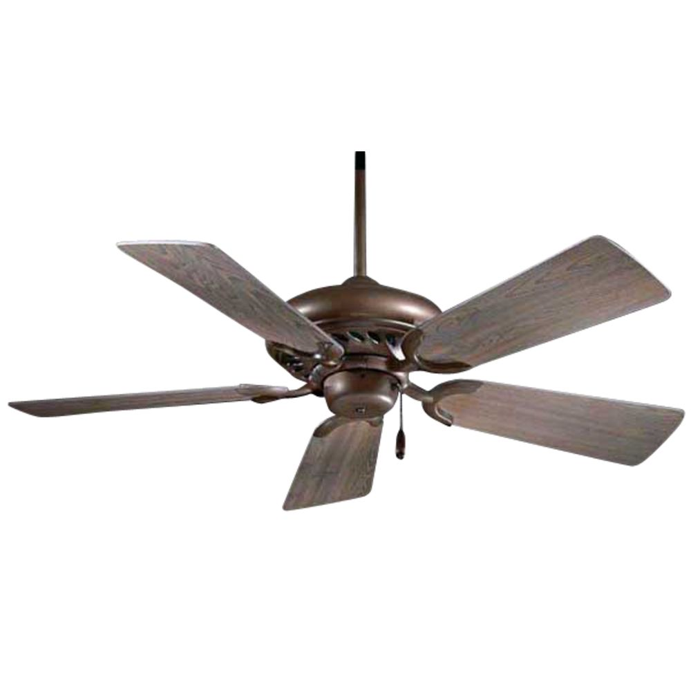 44 Inch Ceiling Fan With Five Blades In Oil Rubbed Bronze