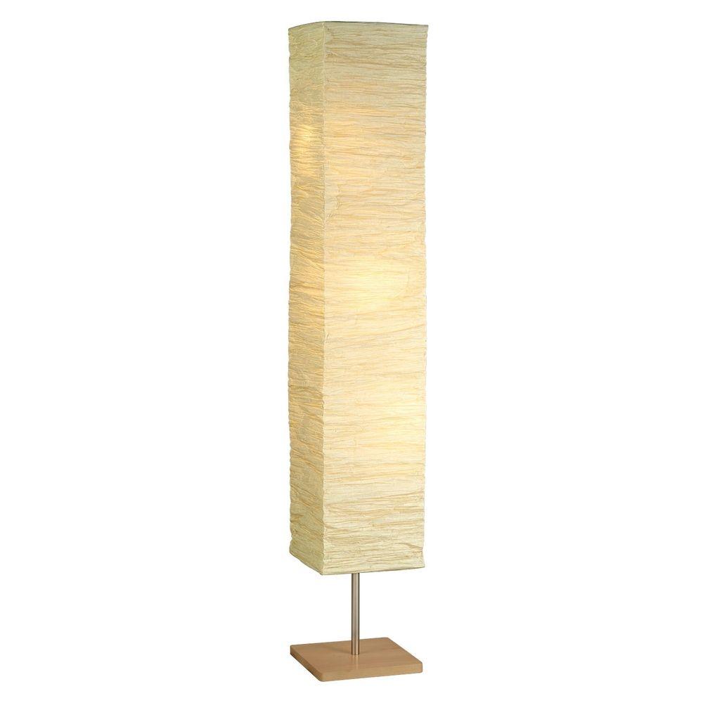 Modern Floor Lamp With Beige Cream