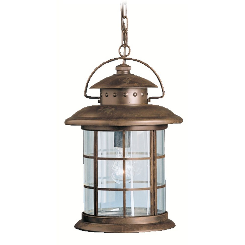 Kichler Outdoor Hanging Light With Clear Glass In Rustic