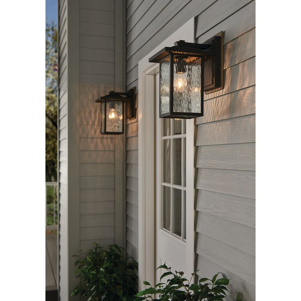 Arts And Crafts Water Gl Outdoor Wall Light Black Capanna By Kichler Lighting At Destination