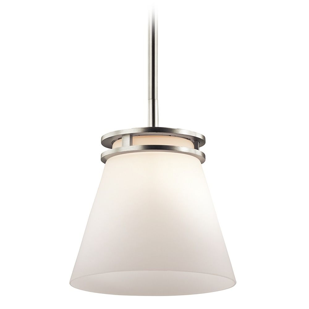 kichler lighting hendrik brushed nickel mini pendant light with