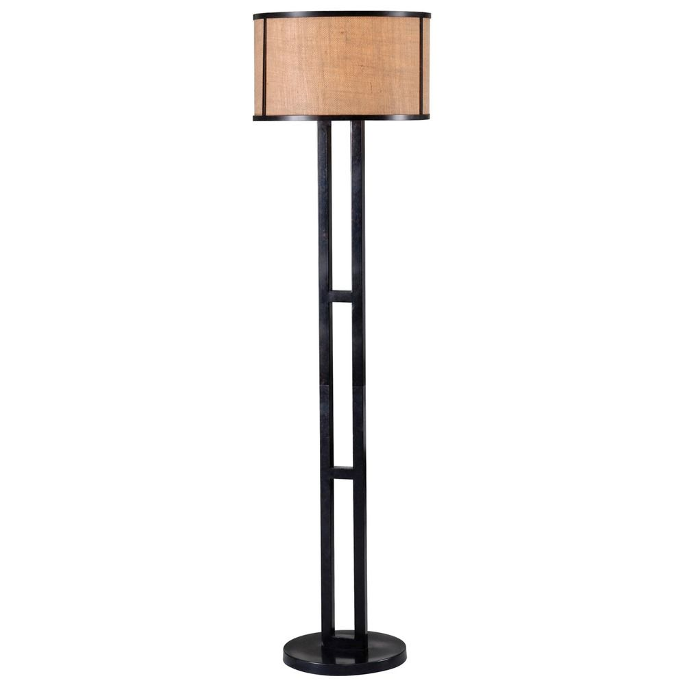 lighting kenroy home lighting keen bronze floor lamp with drum shade. Black Bedroom Furniture Sets. Home Design Ideas