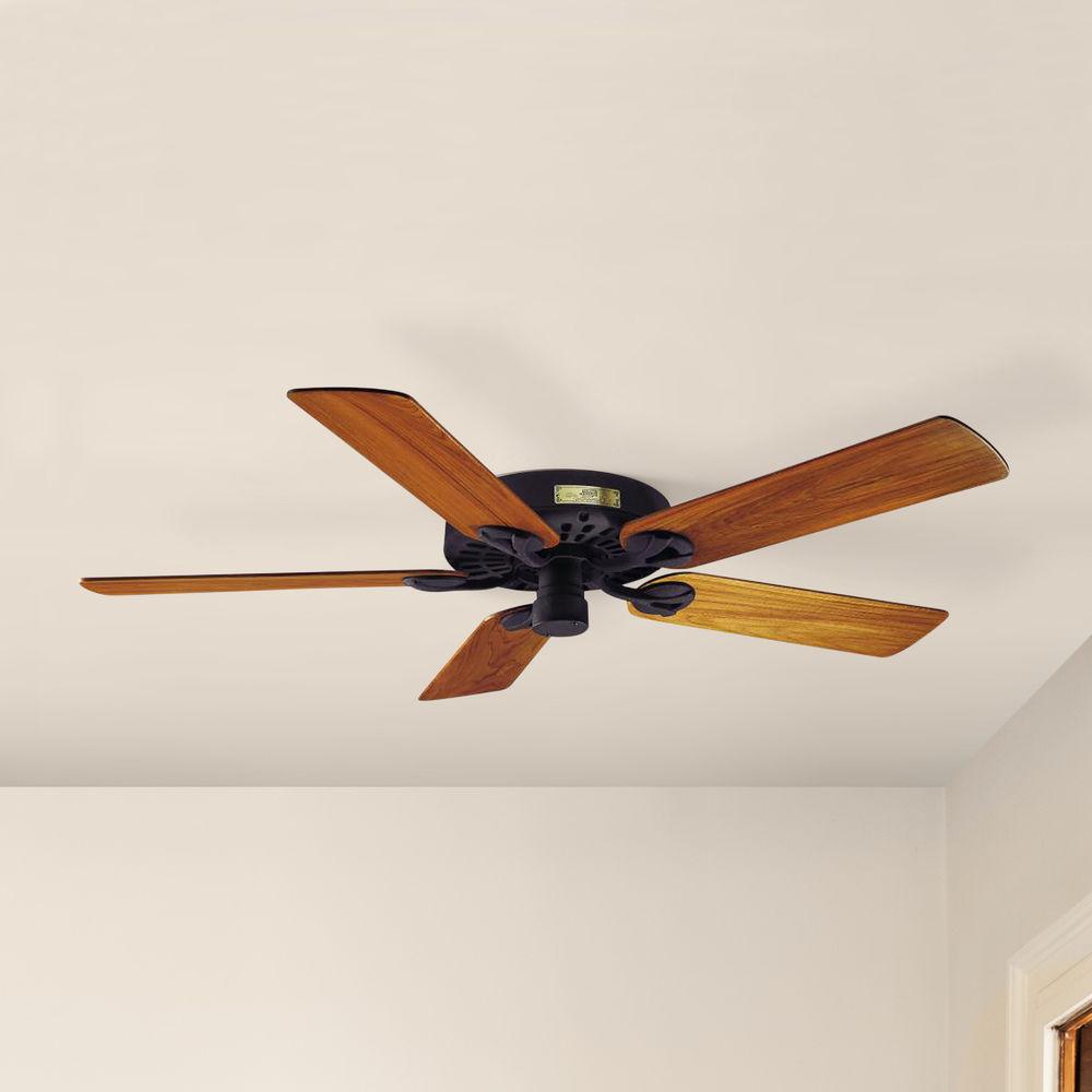 Black Outdoor Ceiling Fan With Teak Wood Blades 23863 Destination Lighting