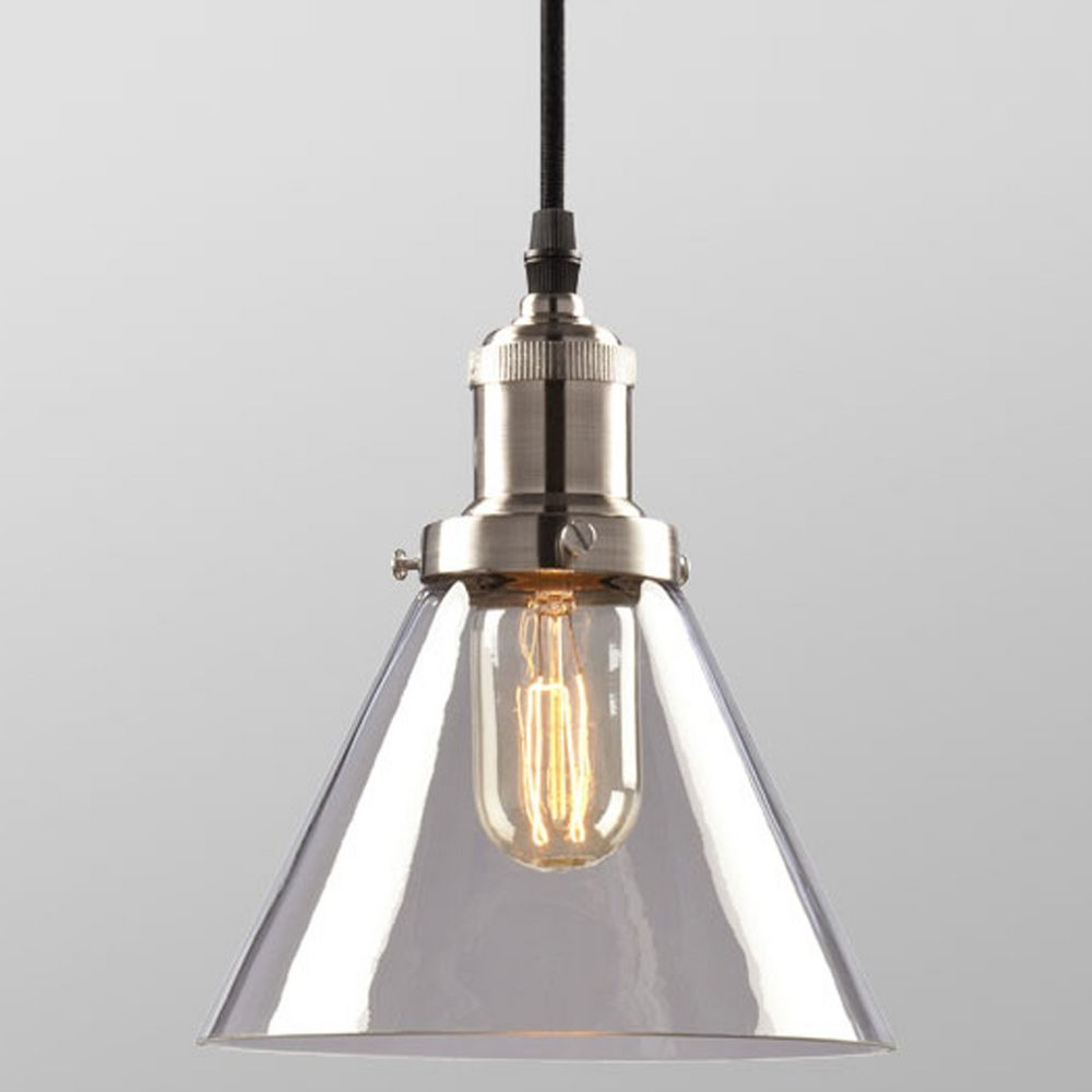 Galaxy Brushed Nickel Vintage Mini Pendant Light