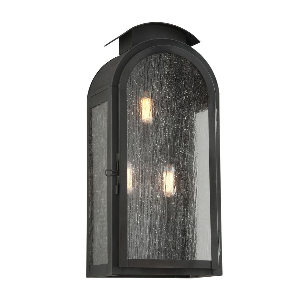 Troy Lighting Copley Square Charred Iron Outdoor Wall Light BF4403CI Destination Lighting