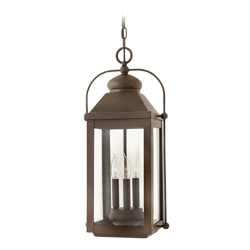 Hinkley Lighting Anchorage Light Oiled Bronze Outdoor Hanging Light 1852LZ