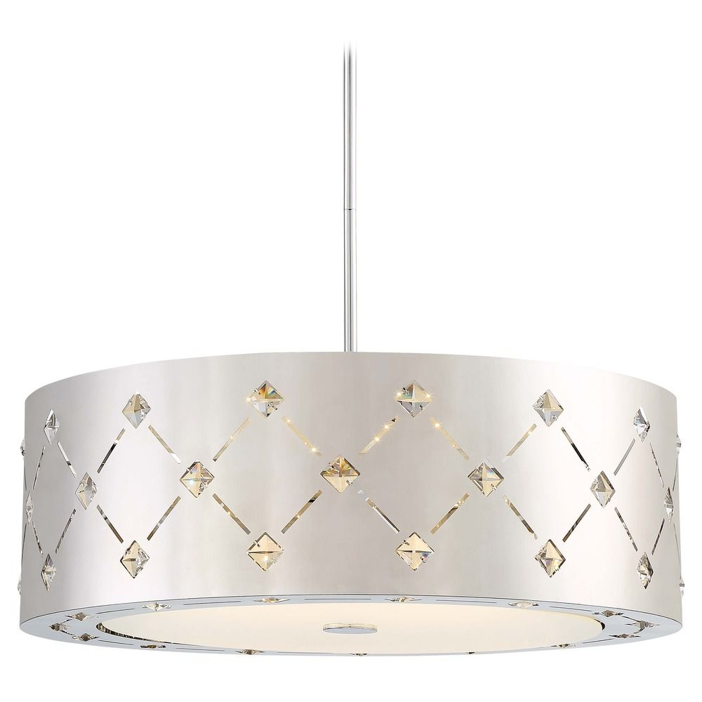 Led Pendant Light With Drum Shade
