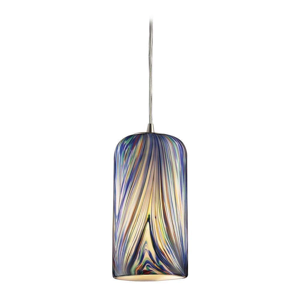 Modern mini pendant light with multi color glass 544 1mo - Colored glass pendant lights ...