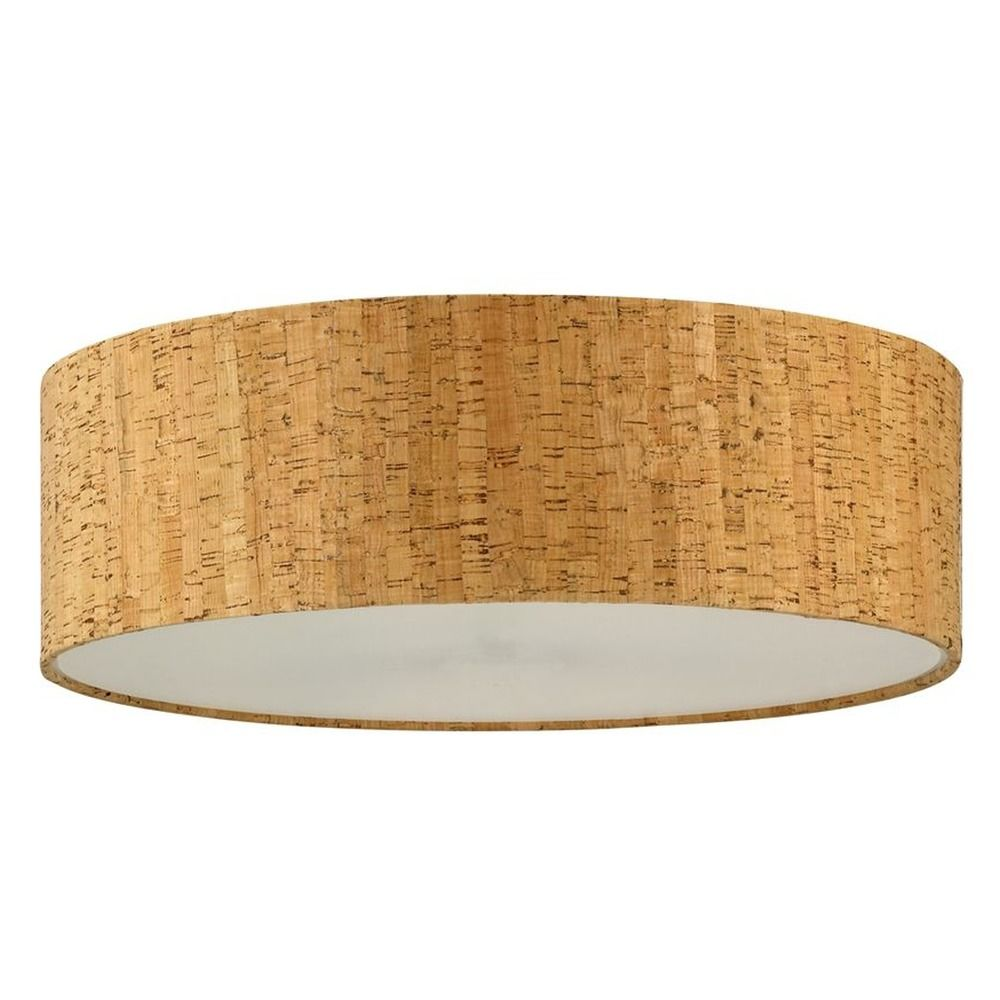 Cork drum lamp shade sh9472dif destination lighting for Wine cork lampshade