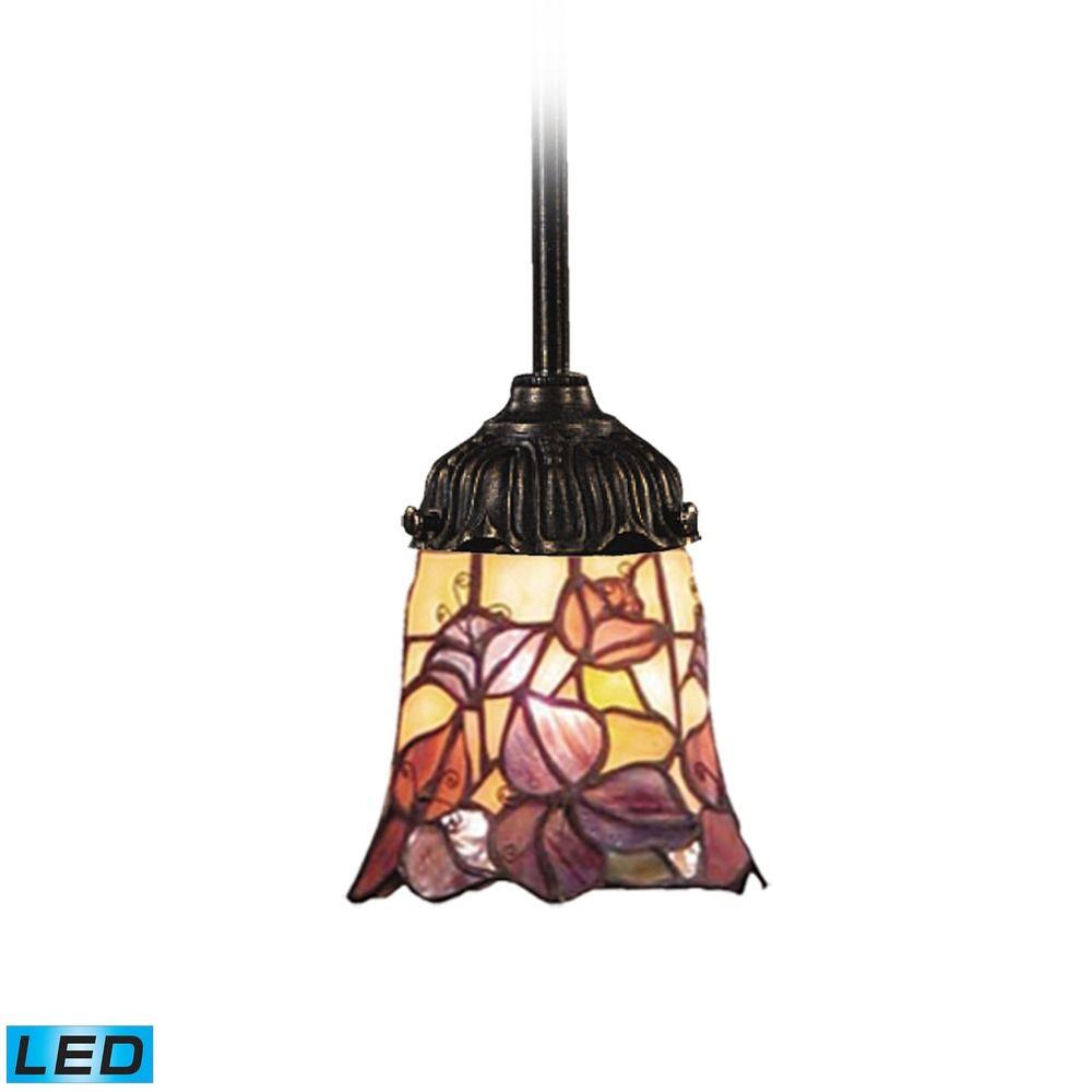 Elk Lighting Mix N Match Tiffany Bronze Led Mini Pendant Light With Bell Shade At Destination Lighting