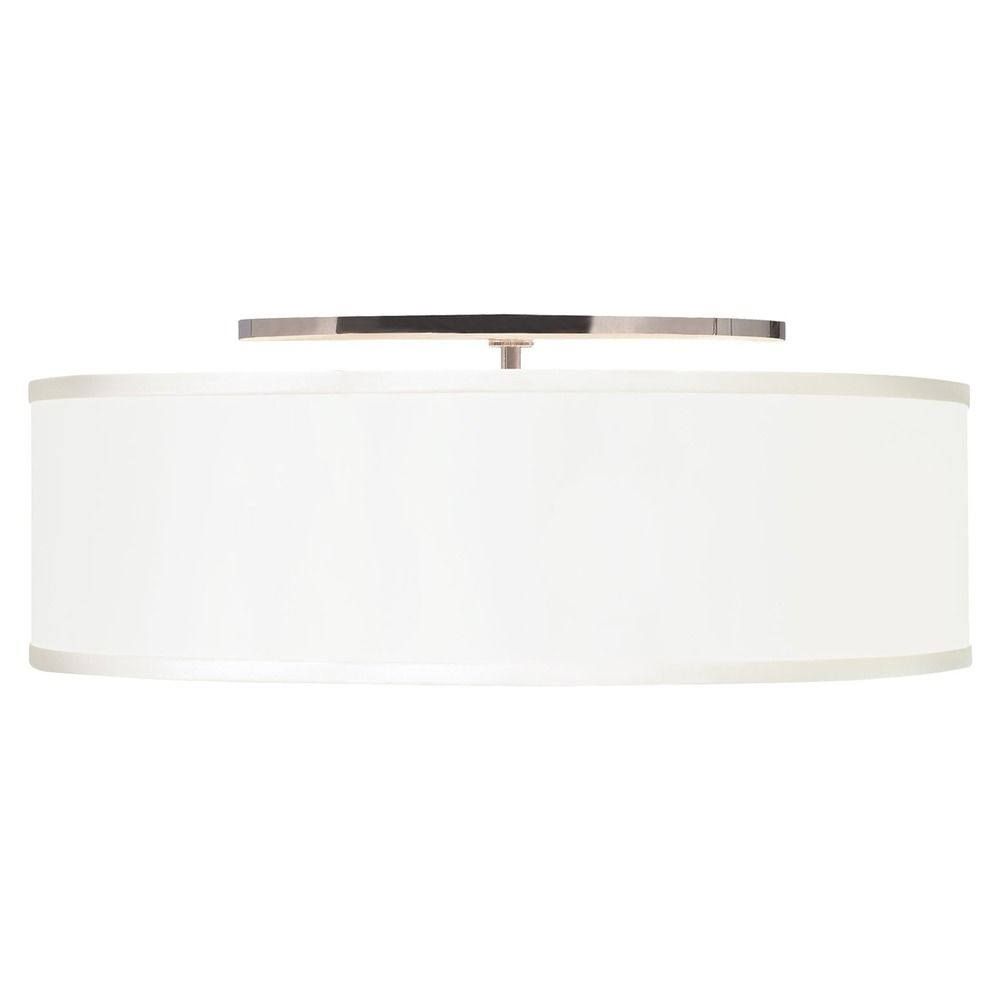 Tech Lighting 20 Inch Drum Fabric Flushmount Ceiling Light 700tdmulfmlws