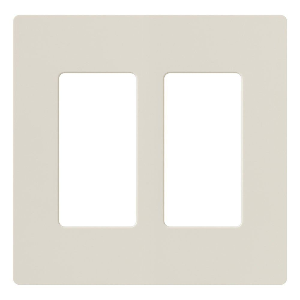 Lutron Dimmer Controls Light Almond Switch Plate Cover Cw 2 La