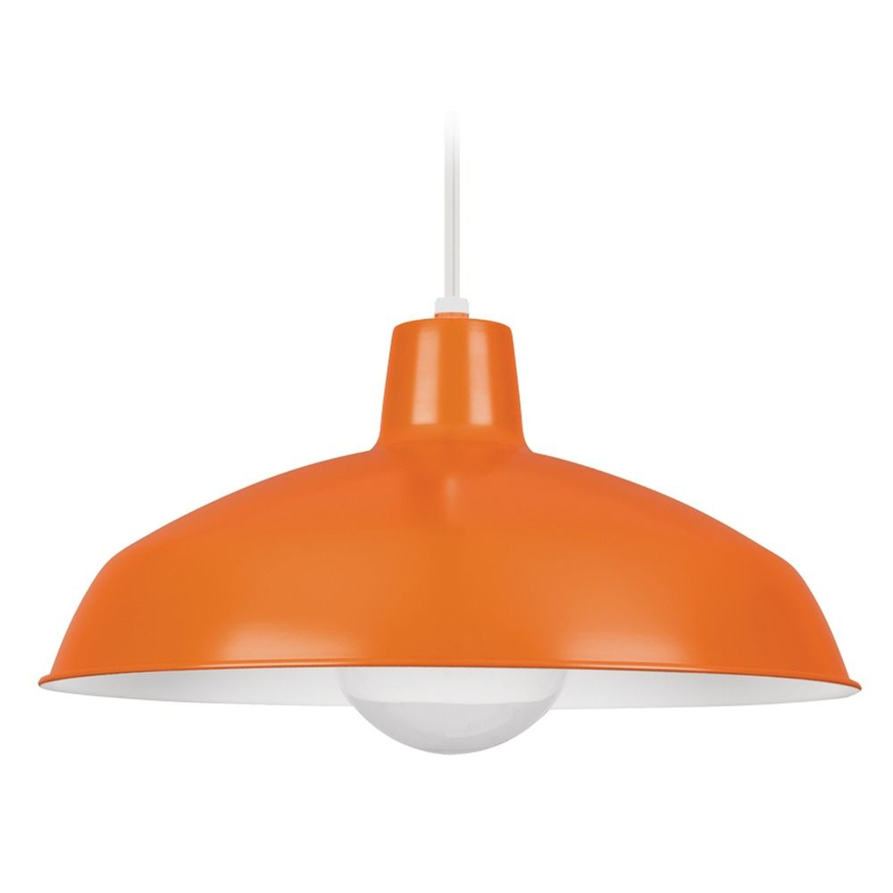 sea gull lighting painted shade pendants orange pendant