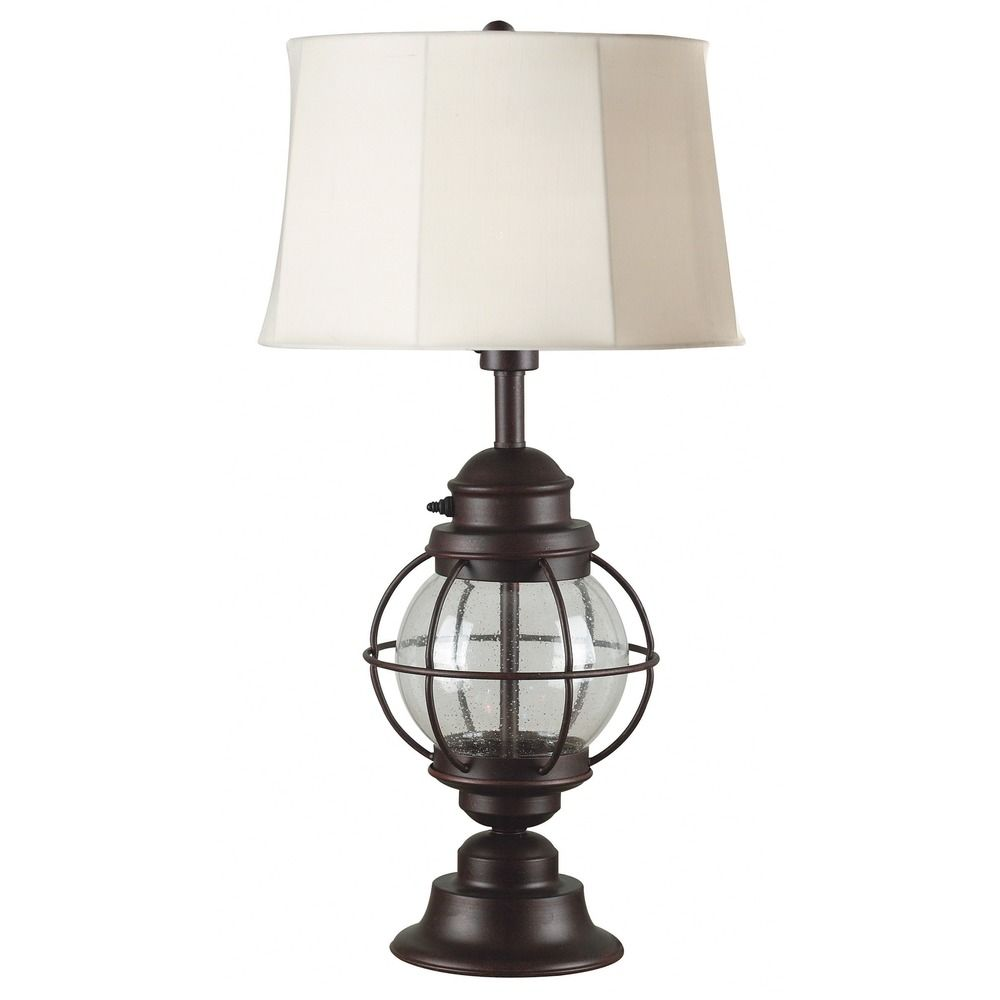 nautical outdoor table lamp with shade 03070. Black Bedroom Furniture Sets. Home Design Ideas