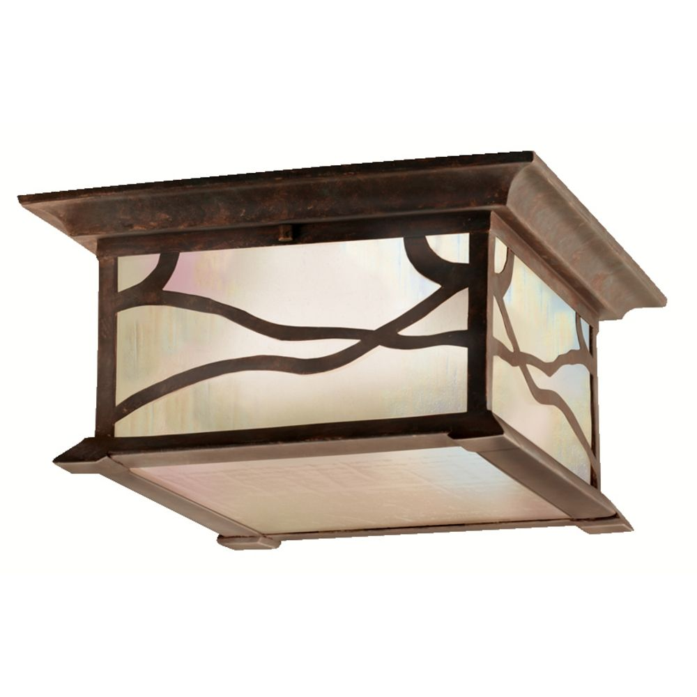 Kichler Distressed Copper Outdoor Ceiling Light