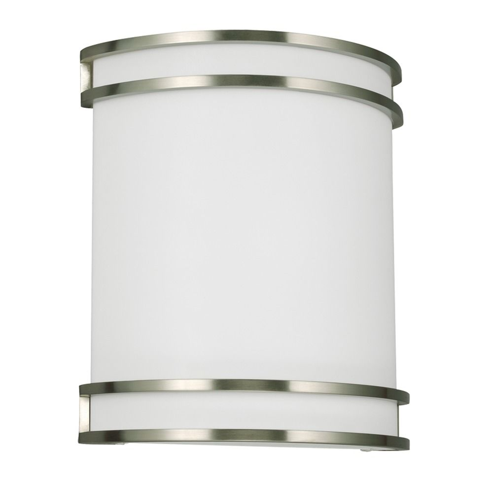 Ada Wall Sconces Led : Sea Gull Lighting Ada Wall Sconces Brushed Nickel LED Sconce 4933591S-962 Destination Lighting